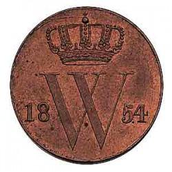 Koninkrijksmunten Nederland ½ cent 1854