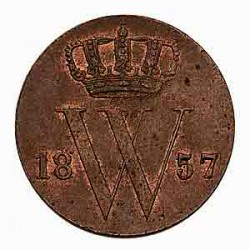 Koninkrijksmunten Nederland ½ cent 1857