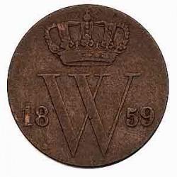 Koninkrijksmunten Nederland ½ cent 1859