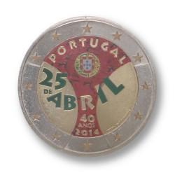 T3 Portugal 2014 - 2 euro 'Anjer revolutie'
