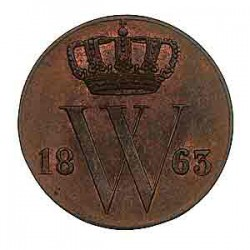 Koninkrijksmunten Nederland ½ cent 1863