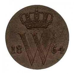 Koninkrijksmunten Nederland ½ cent 1864