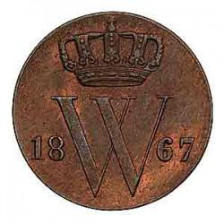 Koninkrijksmunten Nederland ½ cent 1867