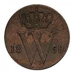 Koninkrijksmunten Nederland ½ cent 1869