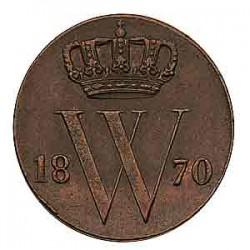 Koninkrijksmunten Nederland ½ cent 1870