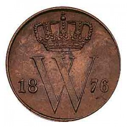 Koninkrijksmunten Nederland ½ cent 1876