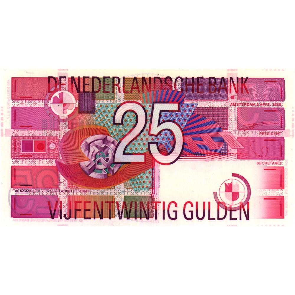 Nederland 25 gulden 1989 'Roodborstje'