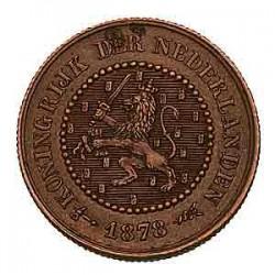 Koninkrijksmunten Nederland ½ cent 1878