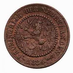 Koninkrijksmunten Nederland ½ cent 1884