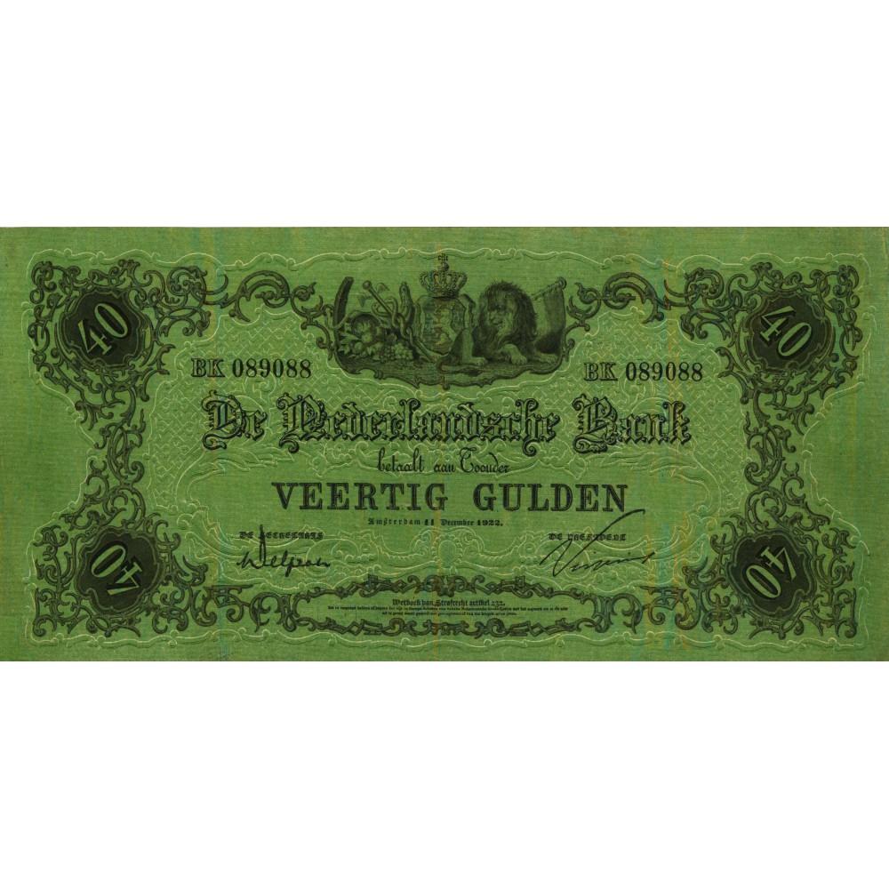 Nederland 40 Gulden 1860