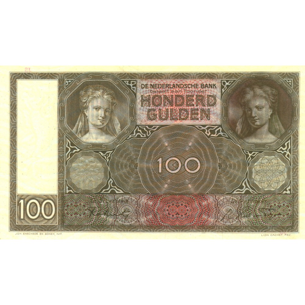 Nederland 100 Gulden 1930 II 'Luitspelende vrouw'