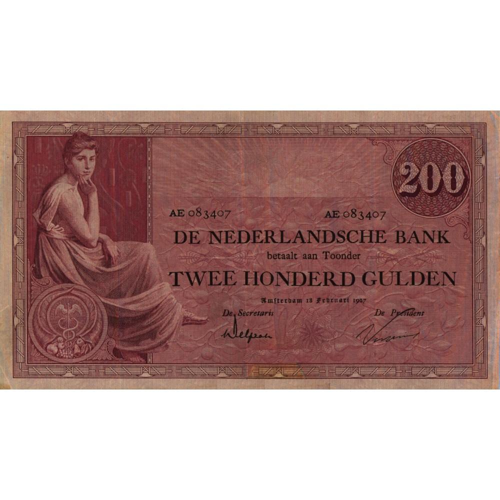 Nederland 200 Gulden 1921 'Grietje Seel'