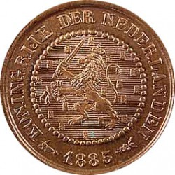 Koninkrijksmunten Nederland ½ cent 1885
