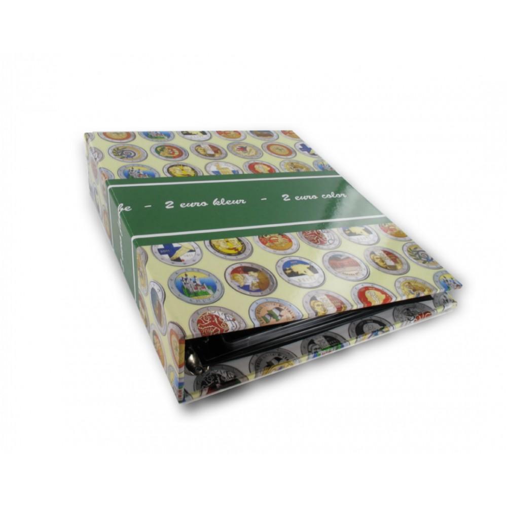 Album voor gekleurde euro's - GRATIS BIJ BESTELLING VAN MINIMAAL 3 GEKLEURDE 2-EUROMUNTEN!