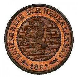 Koninkrijksmunten Nederland ½ cent 1891