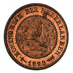 Koninkrijksmunten Nederland ½ cent 1898