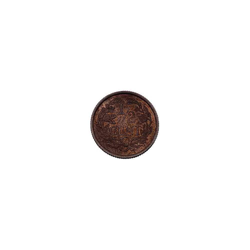 Koninkrijksmunten Nederland ½ cent 1909