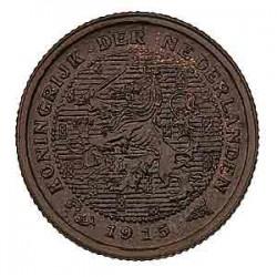 Koninkrijksmunten Nederland ½ cent 1915