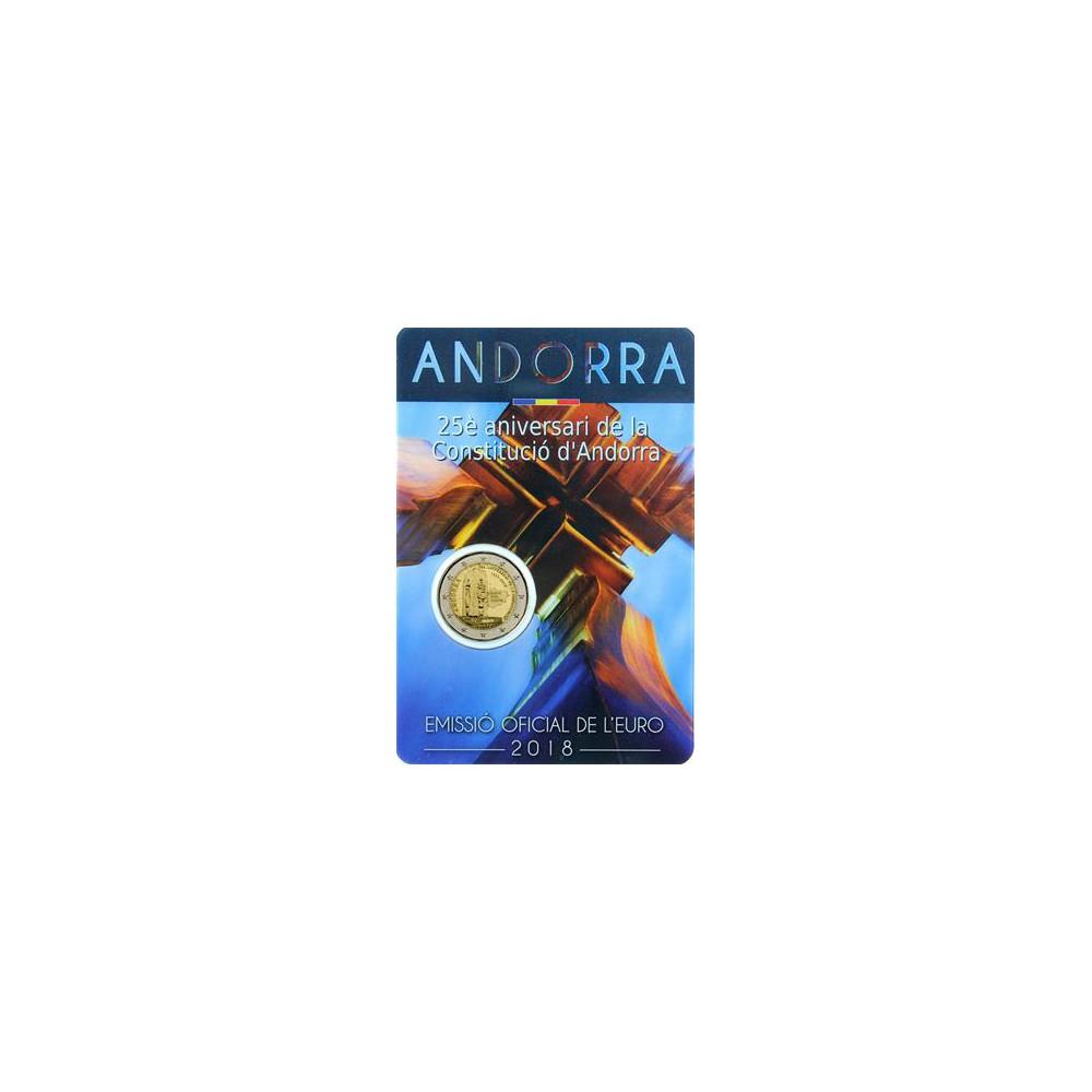Andorra 2 euro 2018 'Constitutie'