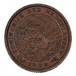 Koninkrijksmunten Nederland ½ cent 1922