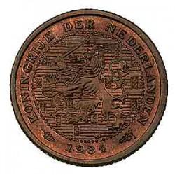 Koninkrijksmunten Nederland ½ cent 1934