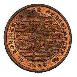 Koninkrijksmunten Nederland ½ cent 1936