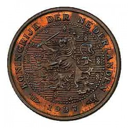 Koninkrijksmunten Nederland ½ cent 1937