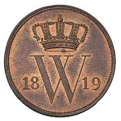 Koninkrijksmunten Nederland 1 cent 1819 U