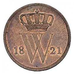 Koninkrijksmunten Nederland 1 cent 1821 U