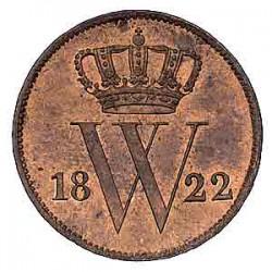 Koninkrijksmunten Nederland 1 cent 1822 U