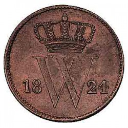 Koninkrijksmunten Nederland 1 cent 1824 U