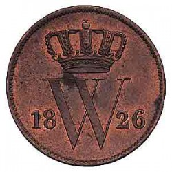 Koninkrijksmunten Nederland 1 cent 1826 U