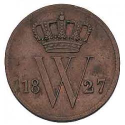 Koninkrijksmunten Nederland 1 cent 1827 B