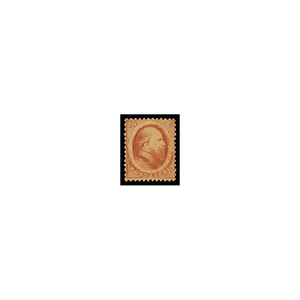 1864 Nederland postzegel | Koning Willem III