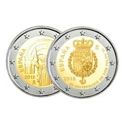 Spanje 2 euro 2018 'Felipe' & Spanje 2 euro 2018 'Compostella'