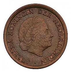 Koninkrijksmunten Nederland 1 cent 1966 grootte 66