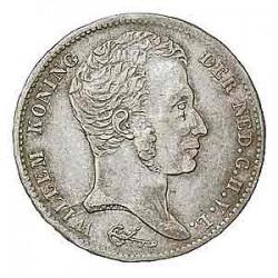 Koninkrijksmunten Nederland 1 gulden 1821 U