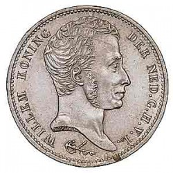 Koninkrijksmunten Nederland 1 gulden 1832/1824 U