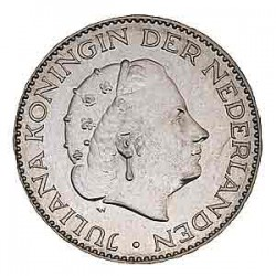 Koninkrijksmunten Nederland 1 gulden 1957
