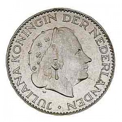 Koninkrijksmunten Nederland 1 gulden 1958