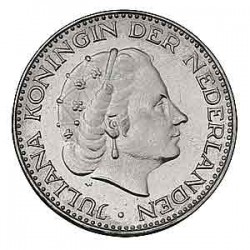 Koninkrijksmunten Nederland 1 gulden 1967 vis