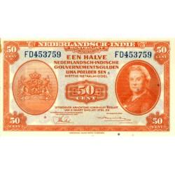 Nederlands Indië ½ gulden 1943