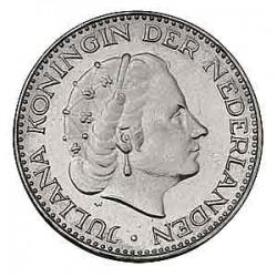 Koninkrijksmunten Nederland Complete serie Juliana 1 gulden 1967-1980 in nikkel