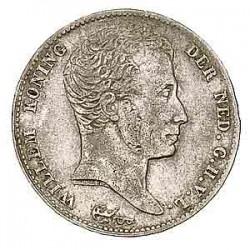 Koninkrijksmunten Nederland ½ gulden 1818 U