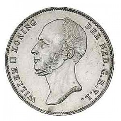 Koninkrijksmunten Nederland ½ gulden 1848