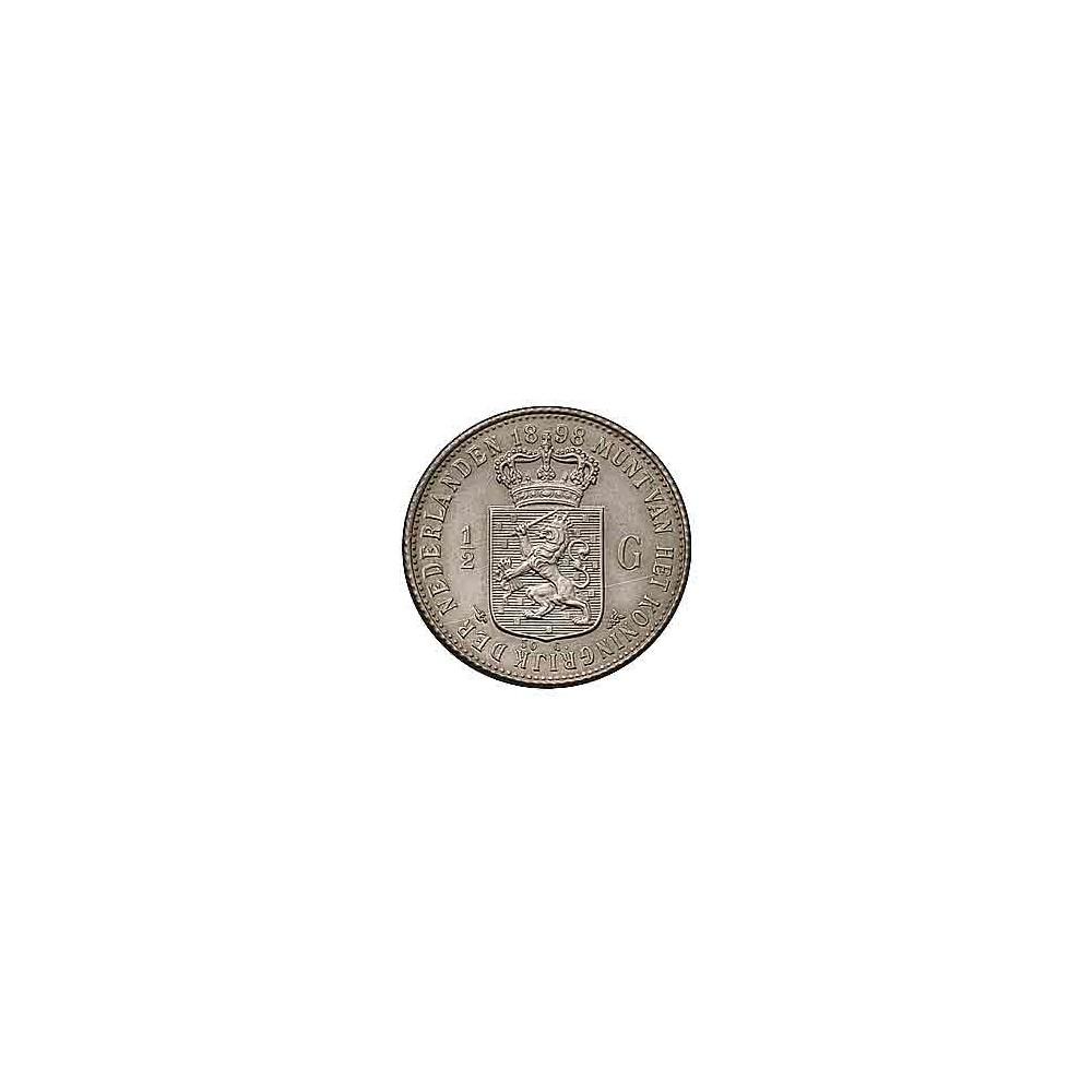 Koninkrijksmunten Nederland ½ gulden 1898