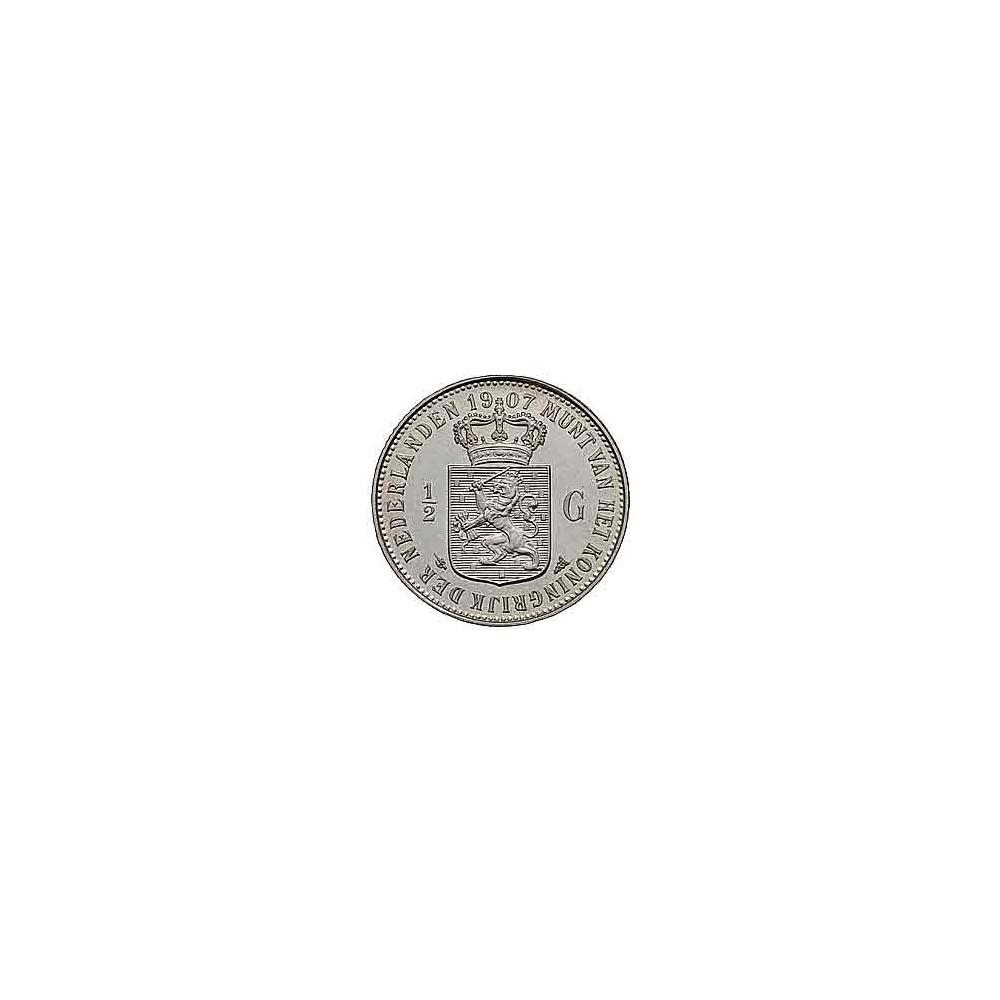 Koninkrijksmunten Nederland ½ gulden 1907