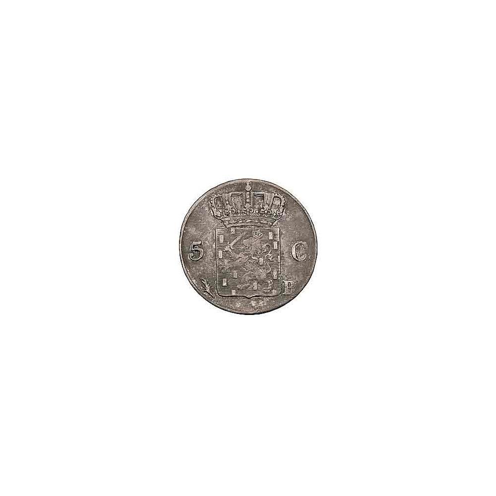 Koninkrijksmunten Nederland 5 cent 1825 B
