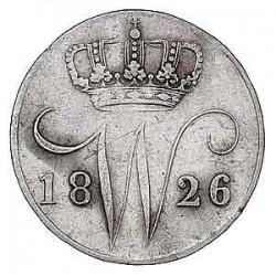 Koninkrijksmunten Nederland 5 cent 1826 B
