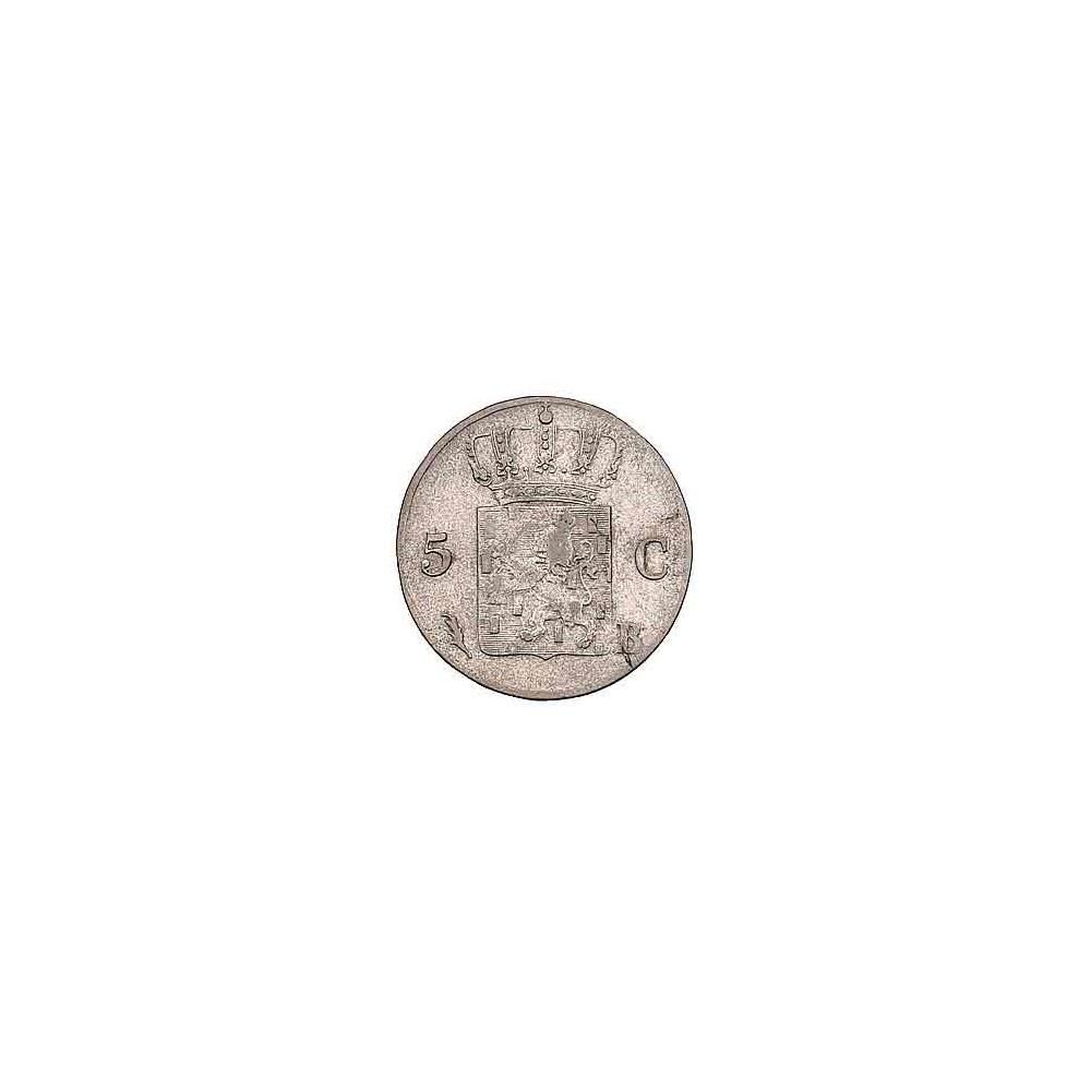 Koninkrijksmunten Nederland 5 cent 1827 B
